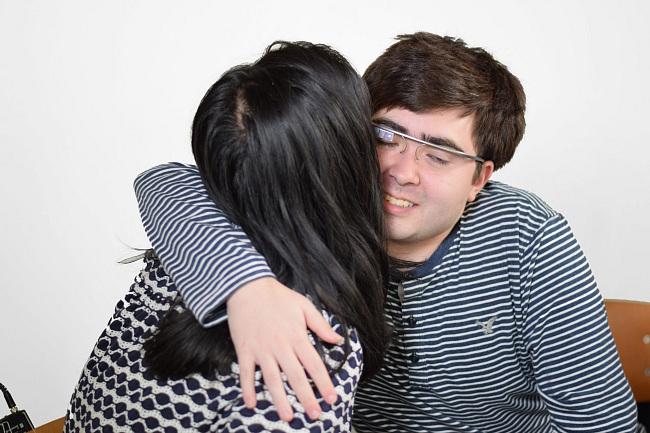 Impromptu hug while using Empowered Brain