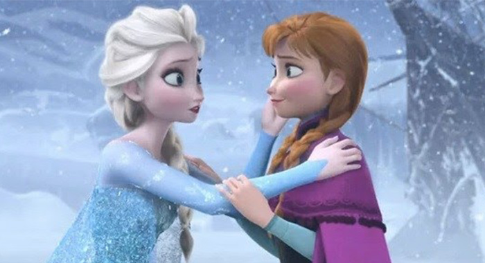 Anna and Else from the movie Frozen